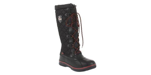 Dámske čierne prešívané topánky Vertigo