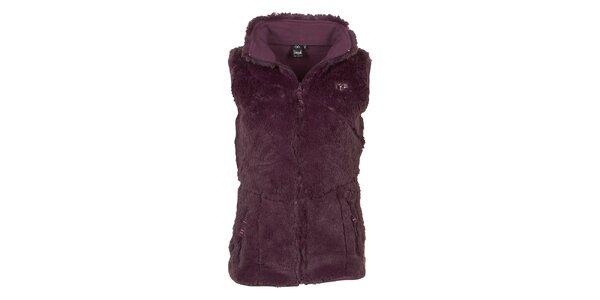 Dámska fialová fleecová vesta Utopik