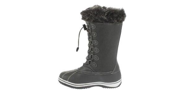 Dámske vysoké šedé zimné topánky Vertigo