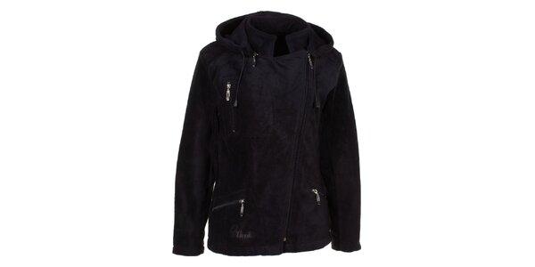 Dámska čierna fleecová bunda Utopik