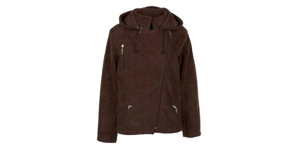 Dámska hnedá fleecová bunda Utopik