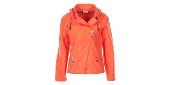Dámska oranžová fleecová bunda Utopik