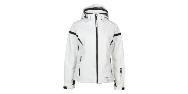 Dámska bielo-čierna softshellová bunda E2KO