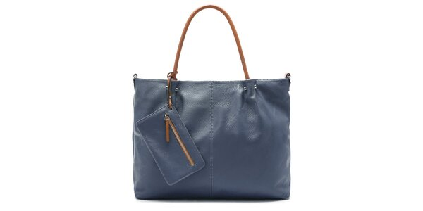 Dámska tmavo modrá kabelka Belle & Bloom s kontrastnými ušami