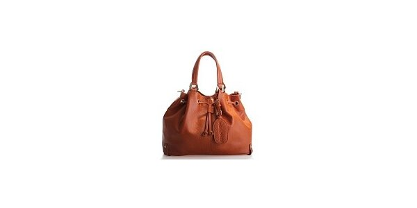 Dámska hnedá kožená kabelka Belle & Bloom