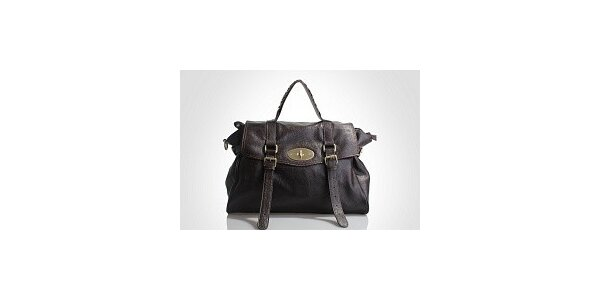 Dámska tmavo hnedá kabelka Belle & Bloom s ozdobnými pasikmi