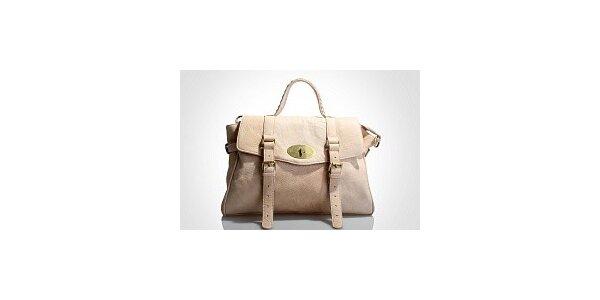 Dámska staroružová kabelka Belle & Bloom s ozdobnými pasikmi