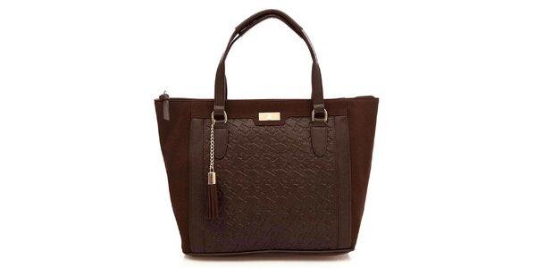 Dámska čokoládová kabelka so strapcom Paris Hilton