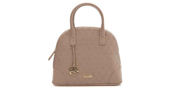 Dámska svetlo hnedá elegantná kabelka Paris Hilton