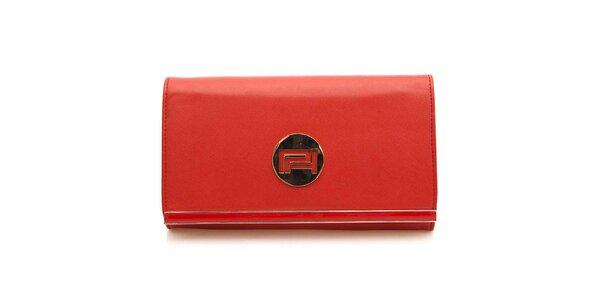 Dámské červená listová kabelka Paris Hilton s kovovým guľatým plieškom