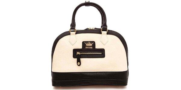 Dámska krémovo-čierna kabelka Paris Hilton