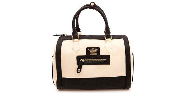 Dámska krémovo-čierna kufríková kabelka Paris Hilton