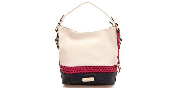 Dámska kabelka s jedným uchom vo farbe slonovinovej kosti Paris Hilton