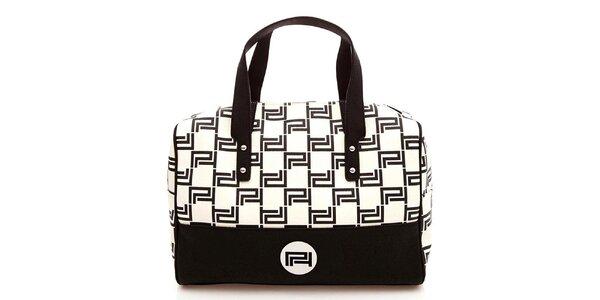 Dámska čierno-biela kabelka Paris Hilton