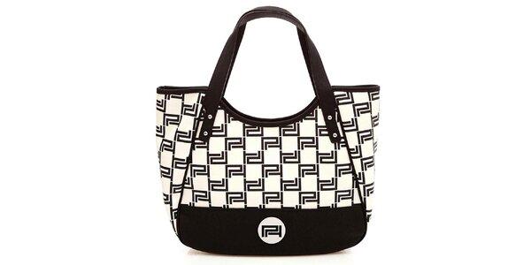 Dámska čierno-biela vzorovaná kabelka Paris Hilton