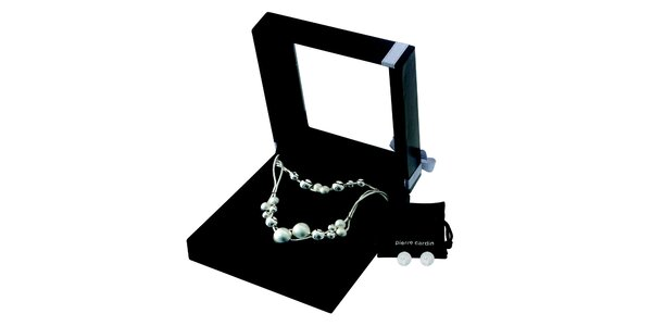Dámska sada náhrdelníku, náramku a náušnic z ocele Pierre Cardin
