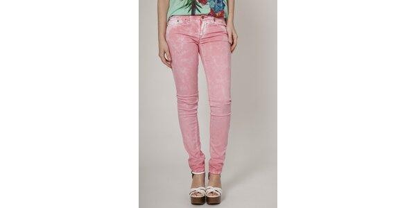 Dámske svetlo ružové džínsy Mell