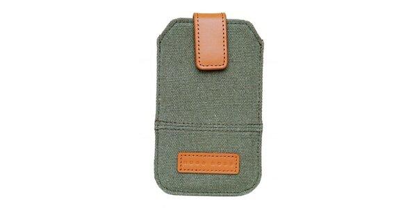 Textilné púzdro na mobilný telefón Hugo Boss s koženými detailmi