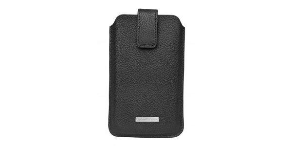 Čierne púzdro na mobilný telefón Hugo Boss so zapínaním