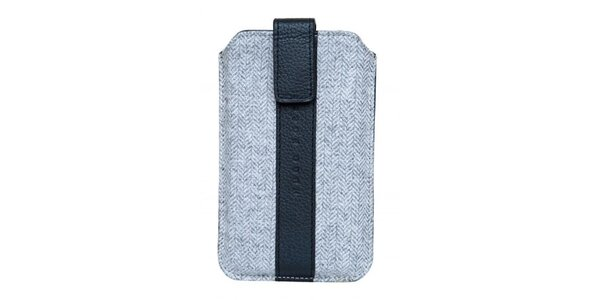 Šedo-čierne púzdro na mobilný telefón Hugo Boss