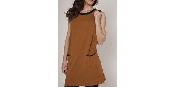 Dámske karamelovo hnedé šaty Mell