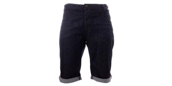 Pánske tmavomodré džínsové kraťasy Lee Cooper