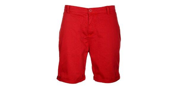 Pánske červené šortky Lee Cooper