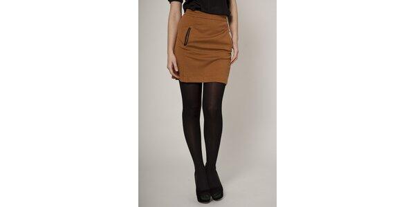Dámska karamelovo hnedá sukňa Mell