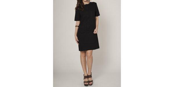 Dámske čierne púzdrové šaty Mell