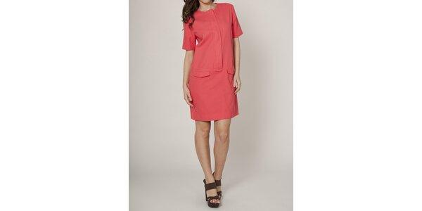 Dámske korálovo červené púzdrové šaty Mell