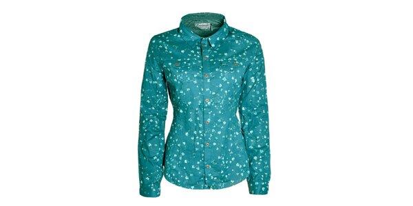 Dámska tyrkysová košeľa s kvietkami Fresh Made