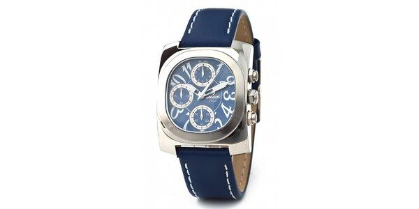 Oceľové hodinky Lancaster s modrým remienkom