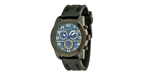 Pánske čierne náramkové hodinky Lancaster so silikónovým remienkom
