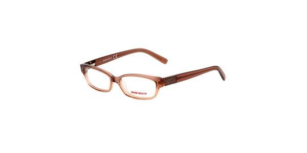 Dámske svetlo hnedé okuliare Miss Sixty