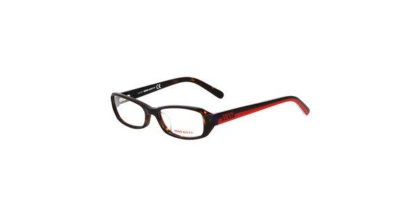 Dámske žíhané okuliare Miss Sixty s farebnými stranicami