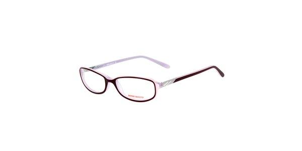 Dámske tenké fialové okuliare Miss Sixty