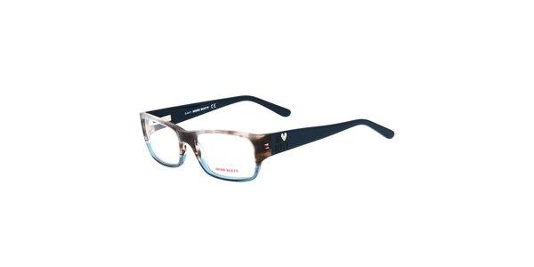 Dámske modro-hnedé okuliare Miss Sixty