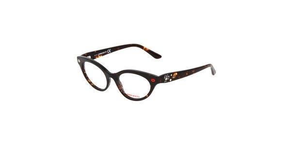 Dámske žíhané retro okuliare Miss Sixty
