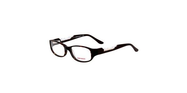 Dámske čierne okuliare s výraznými stranicami Miss Sixty