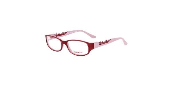 Dámske žuvačkovo ružové okuliare Miss Sixty