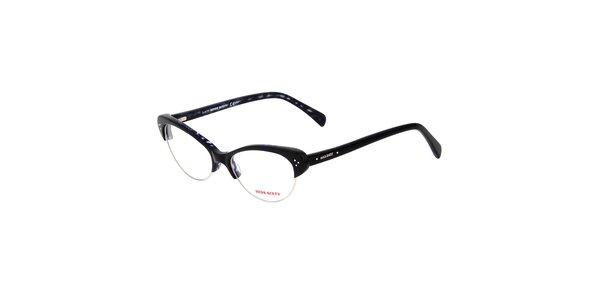 Dámske čierne retro okuliare Miss Sixty