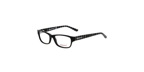 Dámske pruhované čierne okuliare Miss Sixty