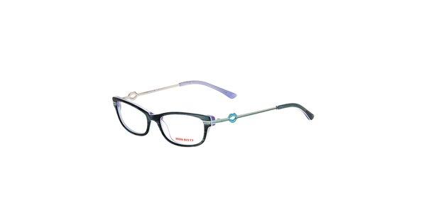 Dámske antracitové žíhané okuliare Miss Sixty