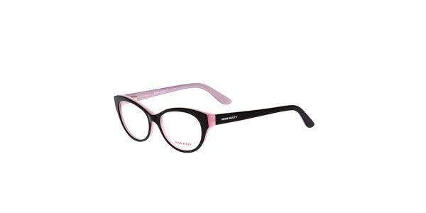 Dámske čierno-ružové retro okuliare Miss Sixty