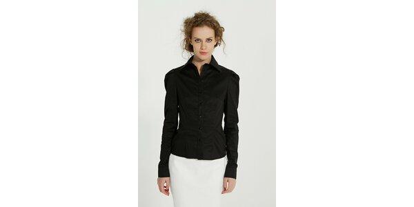 Dámska čierna bavlnená košeľa Gene