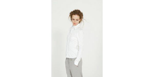 Dámska biela bavlnená košeľa Gene