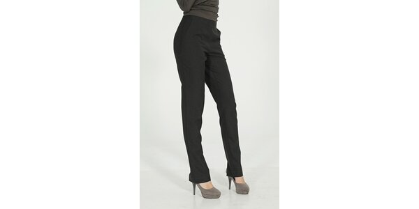 Dámske tmavo šedé elegantné nohavice Gene