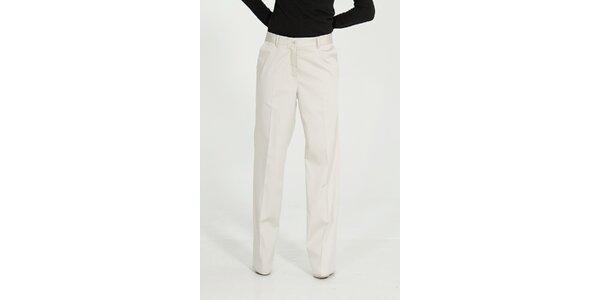 Dámske krémové nohavice Gene s pukmi