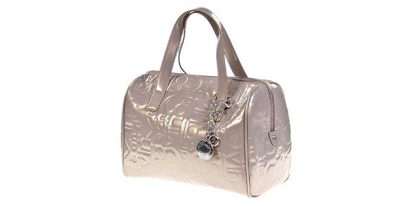 Dámska lesklá kabelka so vzorom Calvin Klein