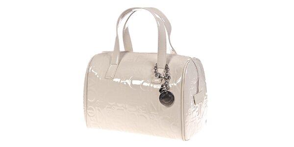 Dámska krémovo biela kabelka so vzorom Calvin Klein